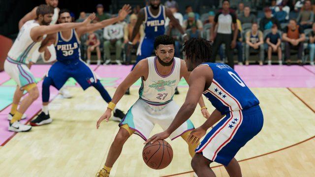 Ein Basketballspiel in NBA 2K22