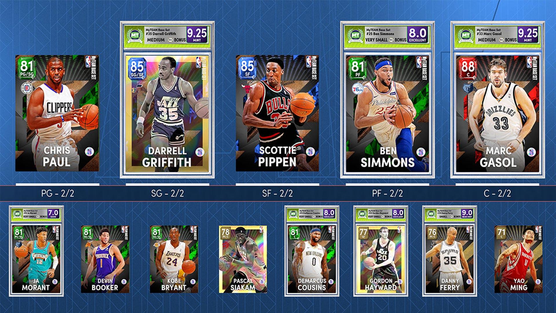 Ein Kartendeck in NBA 2K22