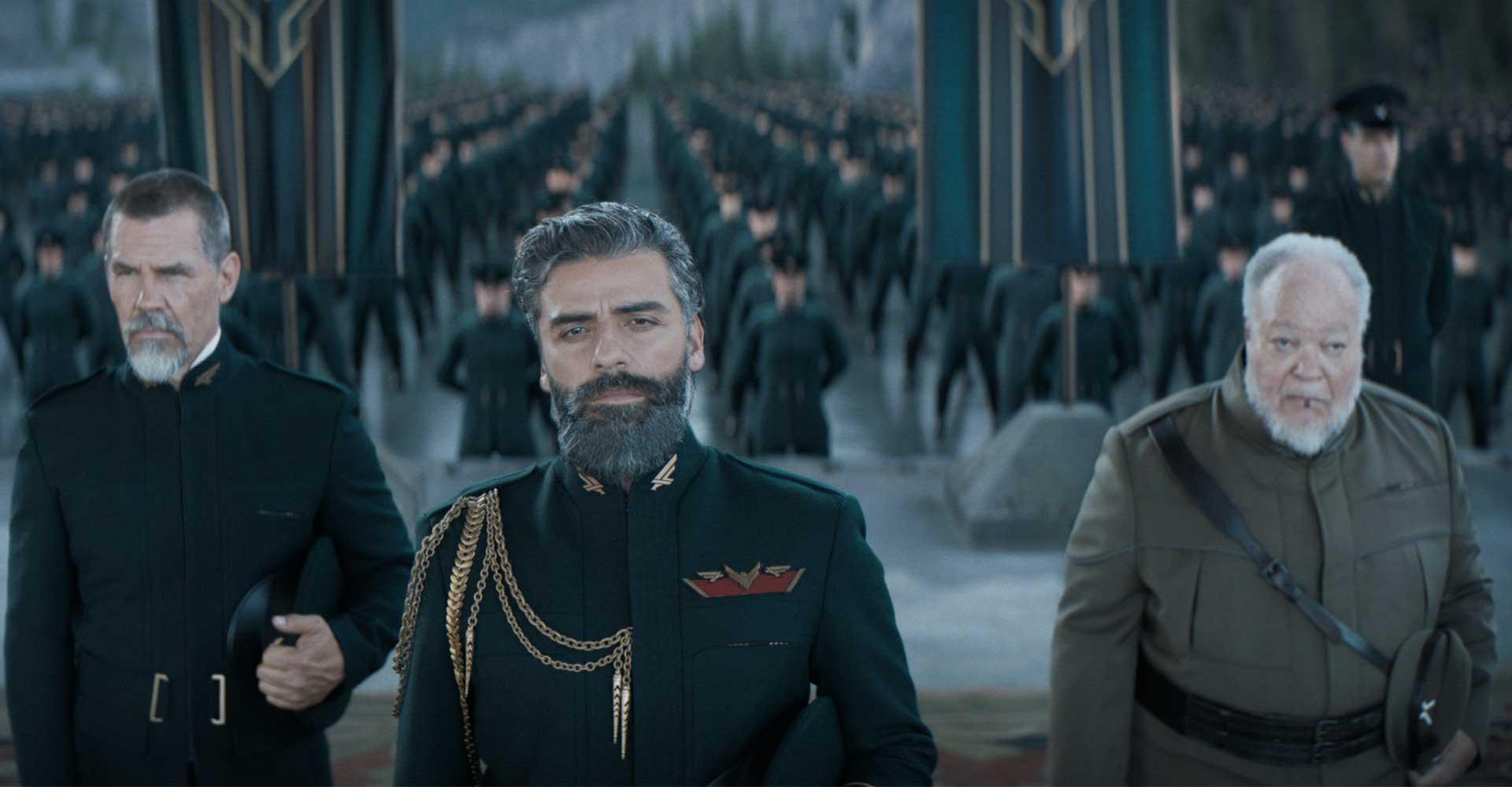 Oscar Isaac, Josh Brolin und Stephen McKinley Henderson in Dune