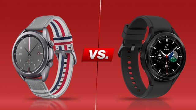 Galaxy Watch 3 und Galaxy Watch4 Classic.