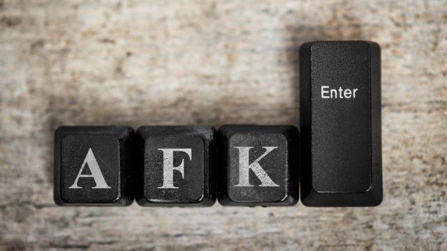 Die Buchstaben AFK auf einer Tastatur