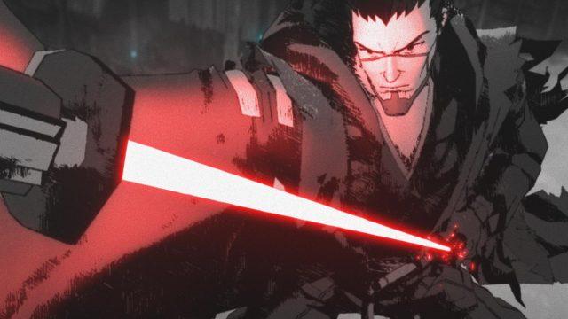 Ein Jedi zieht sein Schwert in der Serie Star Wars: Visionen