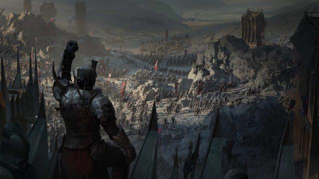 Ein Schlachtfeld im Spiel Der Herr der Ringe: Die Schlacht beginnt
