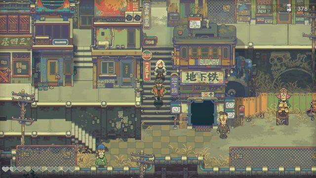 Eine 2D-Stadt im Spiel Eastward