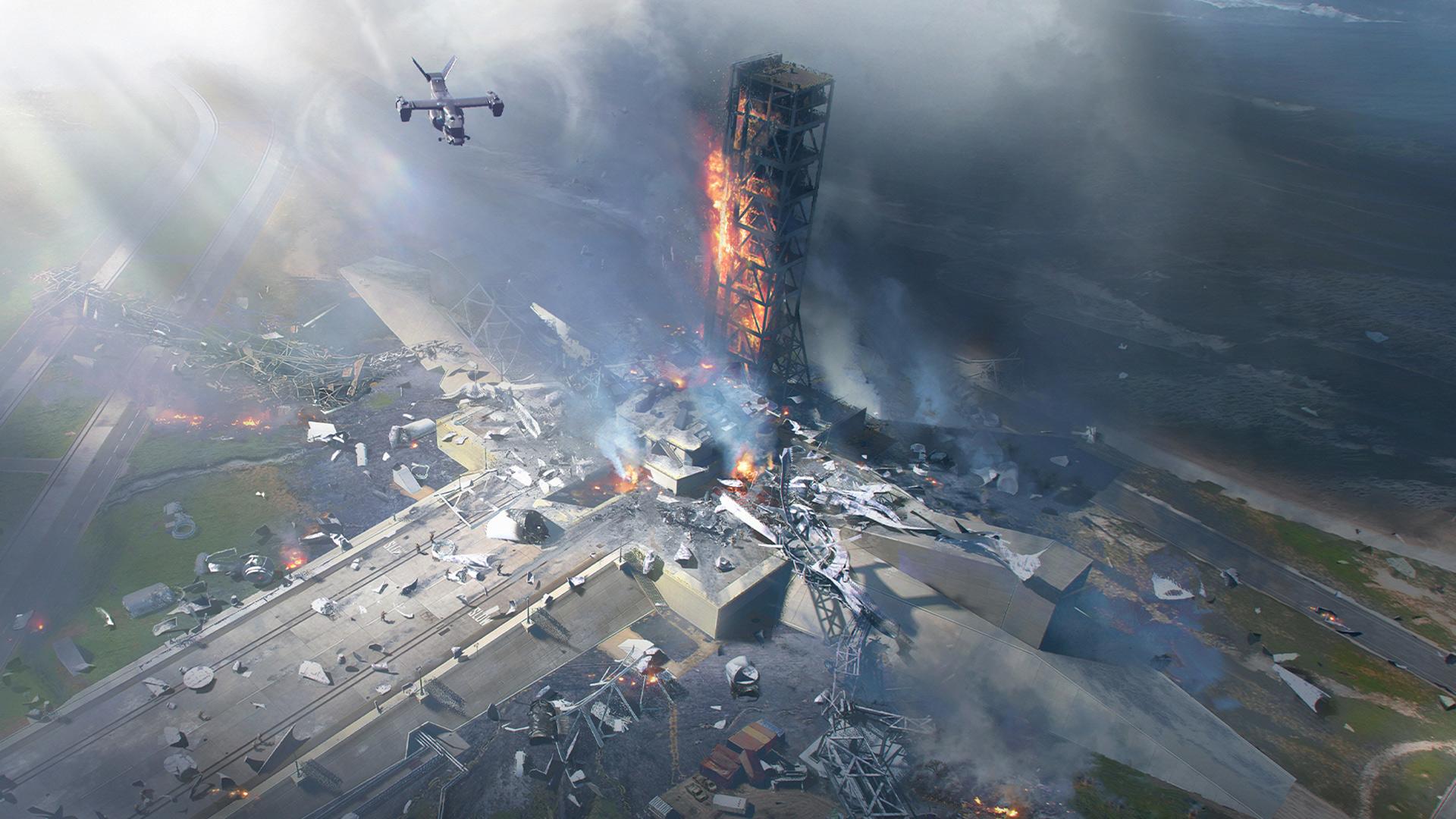Battlefiel 2042 angespielt Raketenrampe brennt