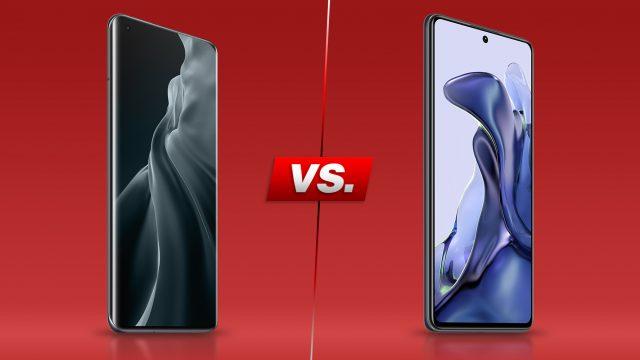 Das Xiaomi Mi 11 (links) und das Xiaomi 11T (rechts)