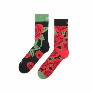 Kolorowe skarpetki - Róże