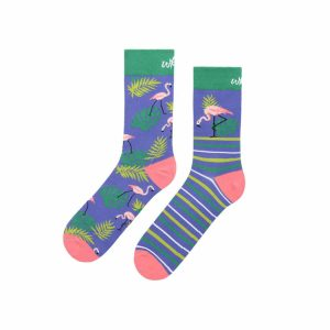 Kolorowe skarpetki - Flamingo