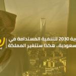 رؤية 2030 للتنمية المستدامة في السعودية.. هكذا ستتغير المملكة