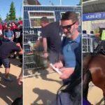 (فيديو وصور) الشرطة الإسبانية تضرب مشجعي ليفربول