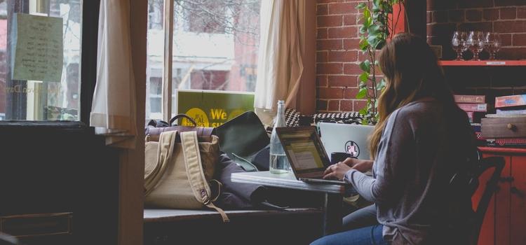 Verdienst einer Bloggerin