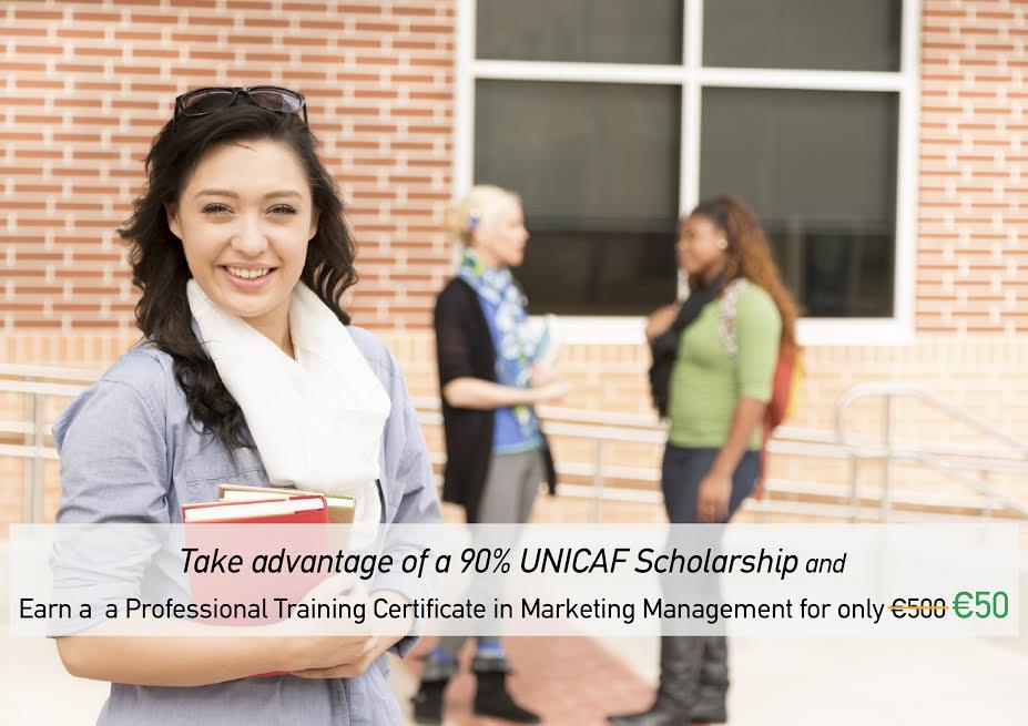 Unicaf Scholarship Programme Certification In Marketing Management