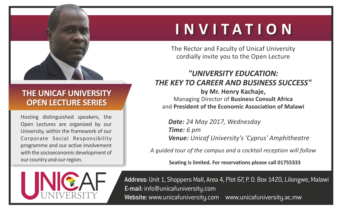 The Unicaf University Open Lecture Series – Unicaf ...
