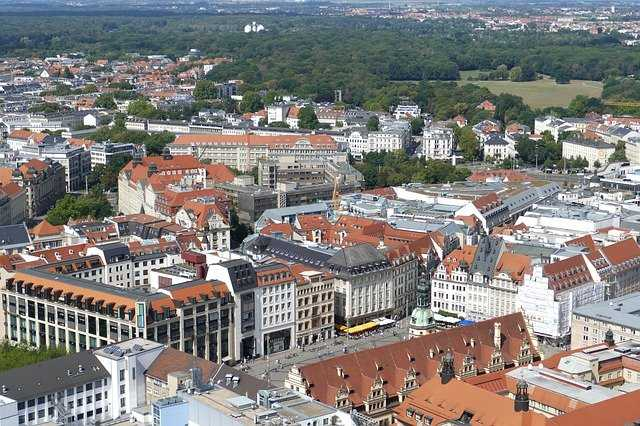Birdview of Leipzig