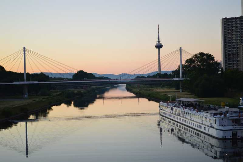 The Neckar in Mannheim