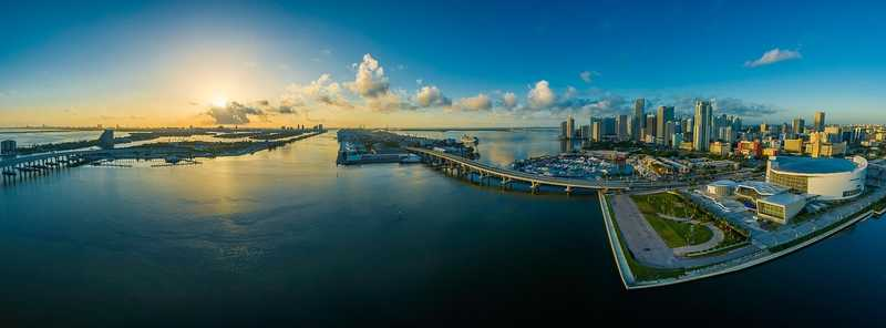 Panorama view of storage in Miami