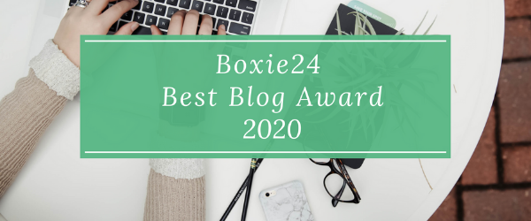 Best Blog Award 2020 Boxie24