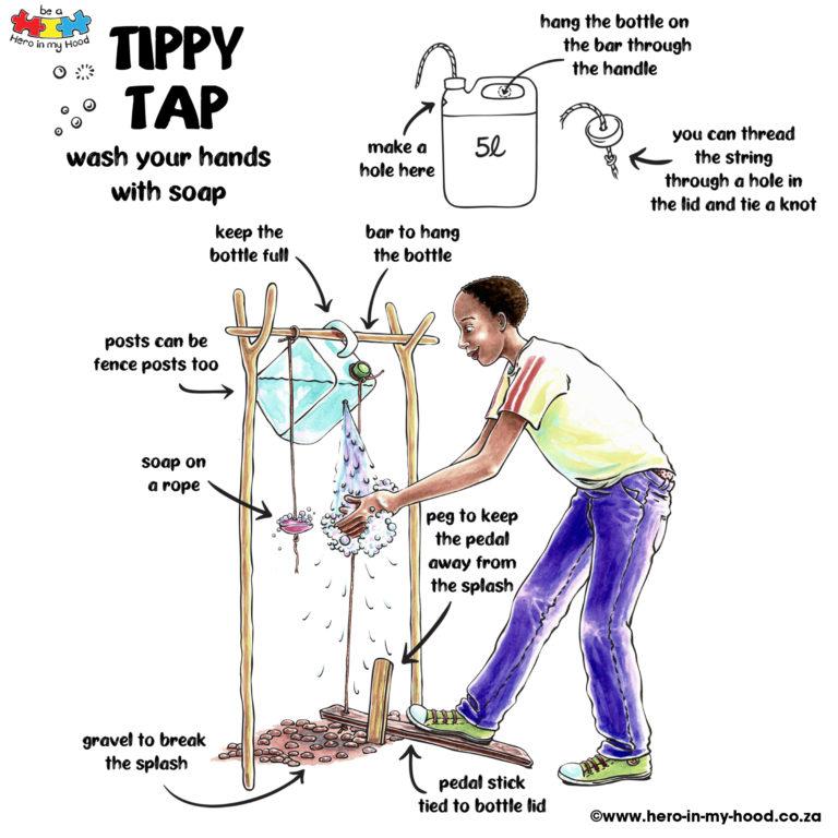 Tippy Tap illustration