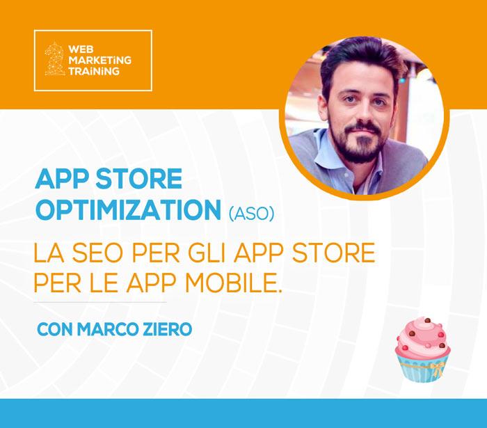 Corso ottimizzazione seo app store con marco ziero