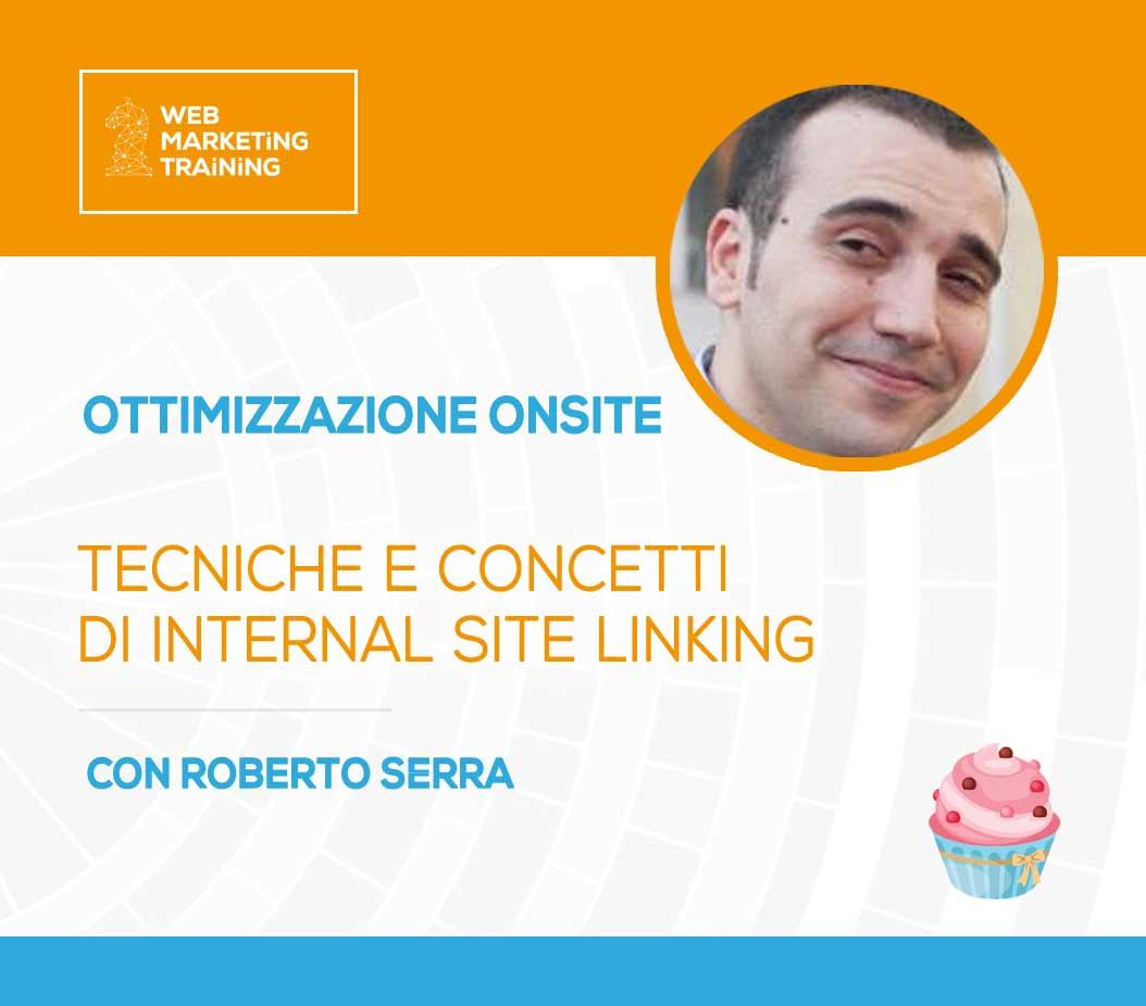 Corso internal site linkng con Roberto Serra