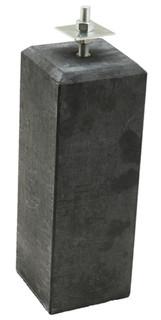 Betonpoer 18 x 18 x 50 cm, met verstelbare plaat, antraciet.