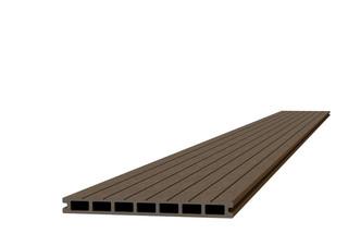 Composiet dekdeel 2,3 x 25,0 x 300 cm, bruin.