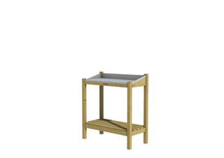 Hillhout Tuinwerktafel Deco met verzinkt blad, 90 x 45 x 100 cm.