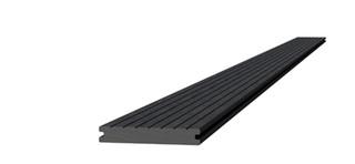 Composiet dekdeel massief 2,2 x 14,5 x 420 cm, antraciet.