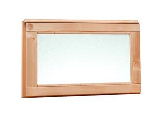 Douglas raam vast raam met melkglas 72 x 40 cm, onbehandeld.