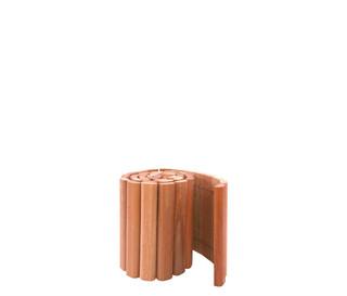 Hardhouten rolborder Ø 4 x 20 x 180 cm.
