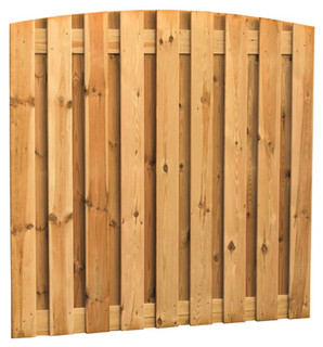 Geschaafd plankenscherm grenen 19-planks 15 mm 180 x 180 cm, verticaal toog.