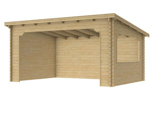 Paviljoen Kolgans 400. 400 x 350 cm, onbehandeld.