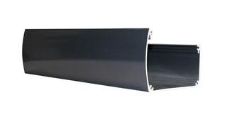 Luxe aluminium bakgoot 300 cm, breed inclusief doorvoer, RAL 7016.