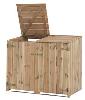Dubbele containerkast 115/127 x 150 x 91 cm (HxBxD).