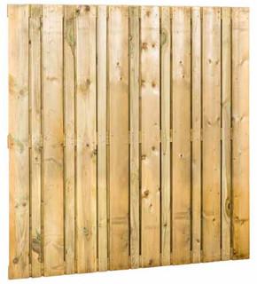 Geschaafd plankenscherm vuren Linia, 180 x 180 cm.