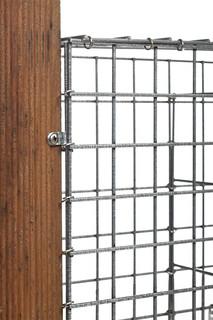 Steenkorfscherm met maas 5 x 5 cm, 120 x 180 x 10 cm (BxHxD).
