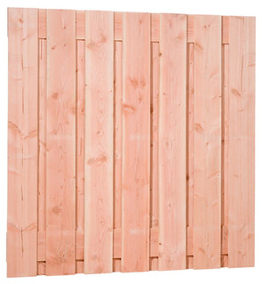 Douglas fijnbezaagd plankenscherm 15-planks 19 mm 180 x 180 cm, groen geïmpregneerd.