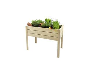 Minigarden op poten grenen 80 x 100 x 50 cm (HxBxD).