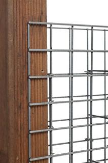 Steenschutting met maas 5 x 5 cm, 120 x 180 x 9 cm (BxHxD).