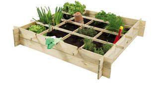 Minigarden vierkante meter grenen 100 x 100 x 20 cm.