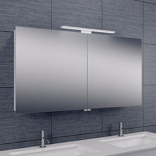Spiegelkast Larissa 120x60x14cm Aluminium LED Verlichting ...