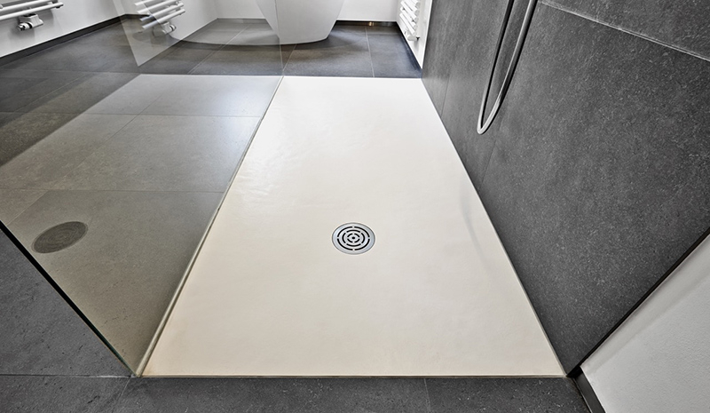 Stijlvolle gietvloeren in de badkamer • Woonhome.nl Woonhome.nl