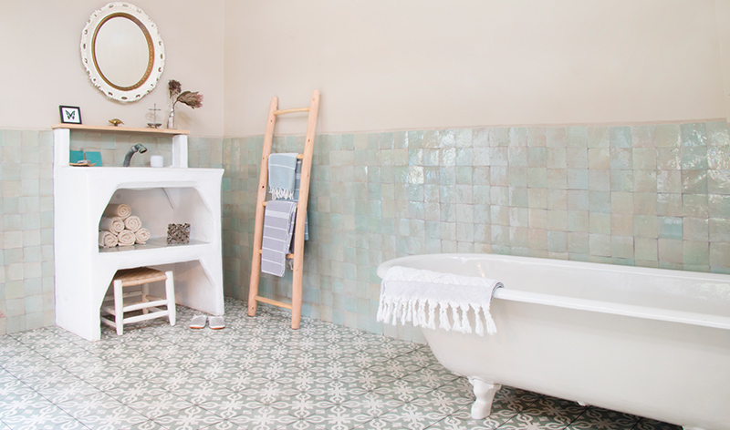 Marokkaanse Tegels Badkamer : Een heus tegelwalhalla van mediterrane wand en vloertegels
