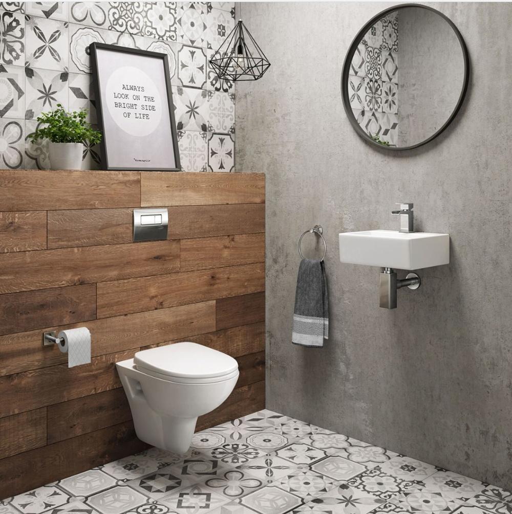 Een moderne badkamer met een design hangend toilet • Woonhome.nl ...