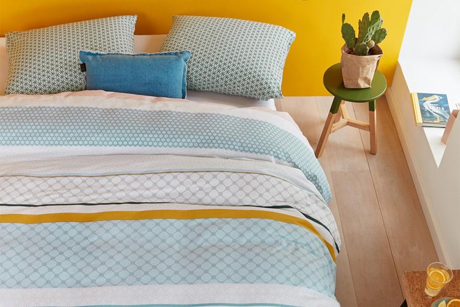 Vintage patroon voor je dekbedovertrek in je trendy slaapkamer.