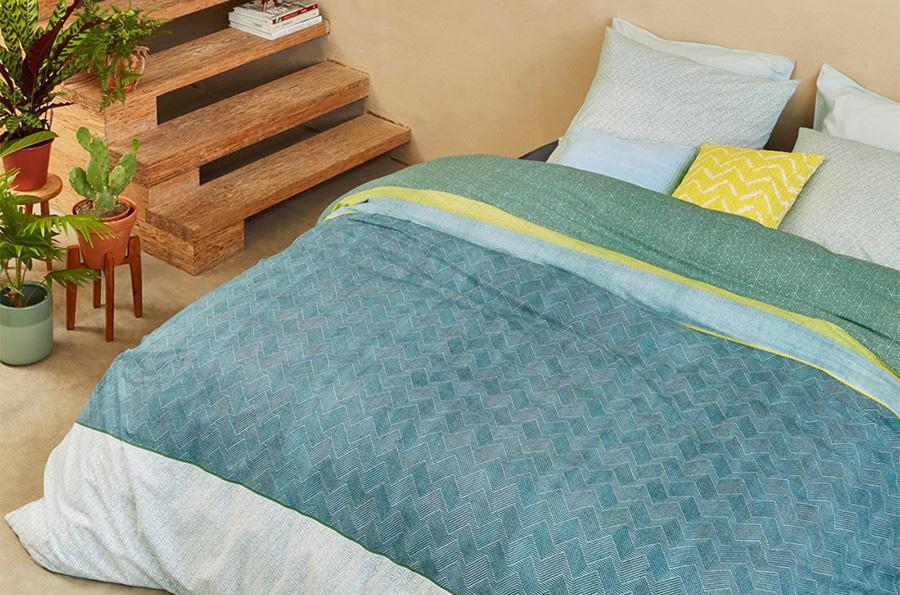 Maak je kamer nog groener met een trendy dekbedovertrek.