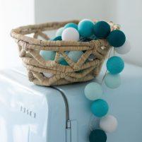 Aqua - 20 cottonballs