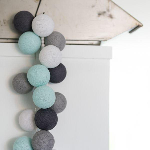 Aqua Grey - 20 cottonballs