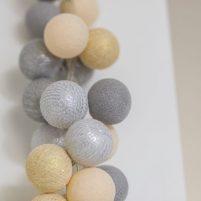 Gold Silver - 50 cottonballs