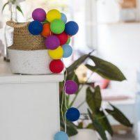 Rainbow - 50 cottonballs